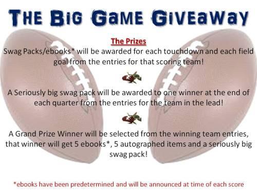 Big Game Giveaway Prizes