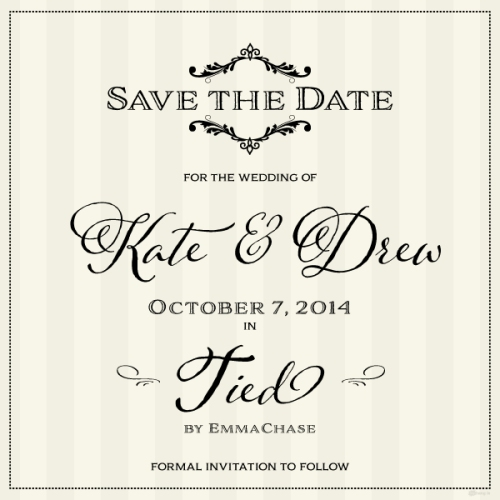 Tied Save the Date